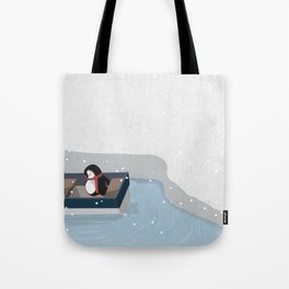 Reaching the South Pole Tote Bag