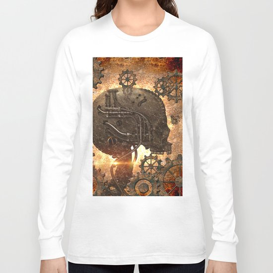 Steampunk, skull Long Sleeve T-shirt