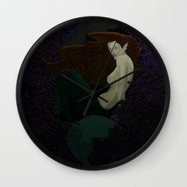 Mermaid in Purple Reef Wall Clock