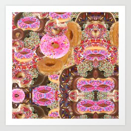 IRON&EMOTION I DONUT GIVE A DAMN ABOUT HAVING ABS Art Print