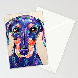 Peanut - Daschund Sausage Dog Art Stationery Cards