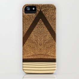 Shadows creating lines on a wall iPhone Case