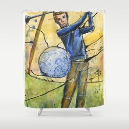 Golfer 1 Shower Curtain