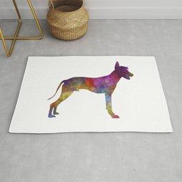 Peruvian hairless dog in watercolor Rug