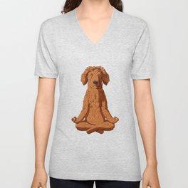 Yoga Golden Doodle Unisex V-Neck