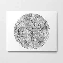 Calm Chaos Metal Print