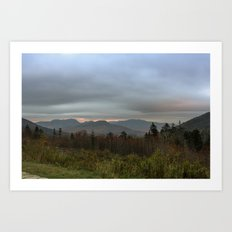 Fall sunset in the mountains Art Print