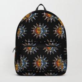 Celestial Mosaic Sun and Moon Backpack