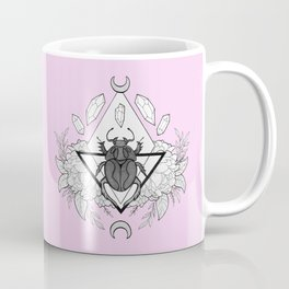 Scarab Queen // Pink Coffee Mug