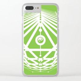 Radiant Abundance (green-white) Clear iPhone Case