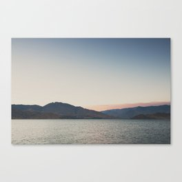 sunset over the lake ... Canvas Print