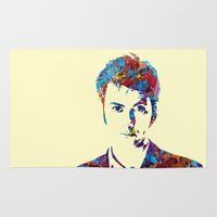 david tennant Area & Throw Rugs featuring David Tennant - Doctor Who by lauramaahs