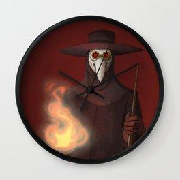 The Plague Doctor Wall Clock
