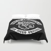 anchorman Duvet Covers featuring Sons of Anchorman by Brandon Wilhelm ART