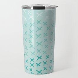 X Pattern - Ombre Mint Travel Mug