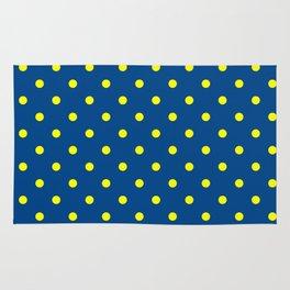 Maize & Blue Polka Dots Rug