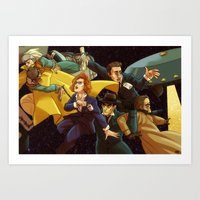 superwholock Art Prints featuring Back to the Mystery of the X-Files by Groovy Bastard