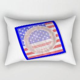 Stars And Stripes Condom Rectangular Pillow