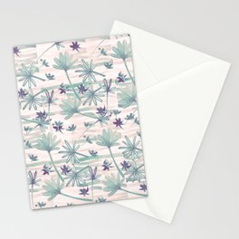 Sea floral print Stationery Cards