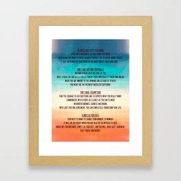 The Four Agreements 13 Framed Art Print