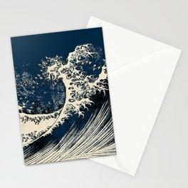 Japanese Waves Blue Stationery Cards