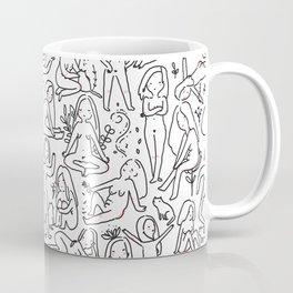 Doodle naked woman Coffee Mug