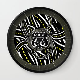 An Infinite Fractal Road on the Legendary Route 66 Wall Clock