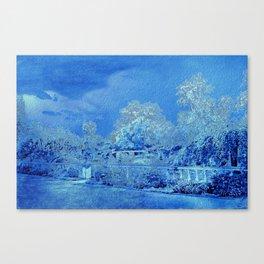 Wedgewood Blue English Garden Canvas Print