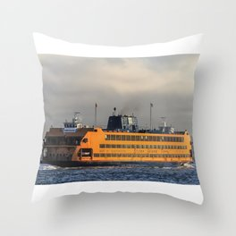 The Staten Island Ferry (Broadside) Throw Pillow
