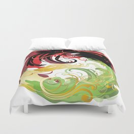 The Wolf and the Halla Duvet Cover