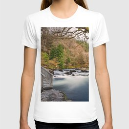 Autumn Footbridge Rapids T-shirt