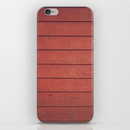 Burgundy Wood Wall iPhone Skin