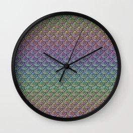 Rainbow Mermaid Scales Wall Clock