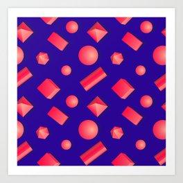 Colorful pattern of geometric shapes. Art Print