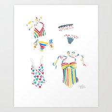 Lauren Moffatt Swimsuits Art Print