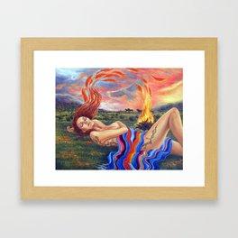 The Birth of Phoenix Framed Art Print