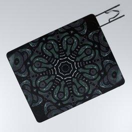 Dark Mandala #4 Picnic Blanket