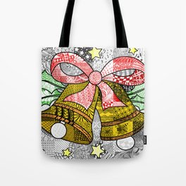 Coloured Christmas Bells Tote Bag