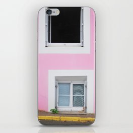 50. The Pink Wall, Bretagne, France iPhone Skin