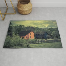 Historic Miners Village Coal Mining Town Pennsylvania Eckley Rural Living Rug