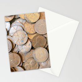 Watercolor Coins, Lincoln Wheat Pennies, 1935 04 Stationery Cards