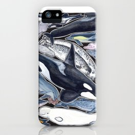 Dolphin, orca, beluga, narwhal & cie iPhone Case