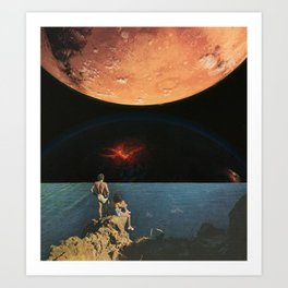 The oceans below and the universe above Art Print
