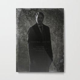 Hannibal Lecter - Portrait of a Monster Metal Print
