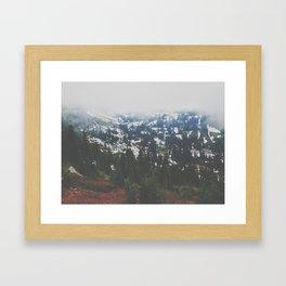 Mount Rainier in July Framed Art Print