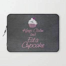 Keep Calm and Eat a Cupcake Laptop Sleeve