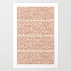 Pastel Glitter Circles Art Print