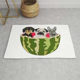 Watermelon Dogs Rug