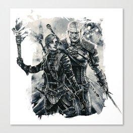 Geralt and Cirilla Canvas Print