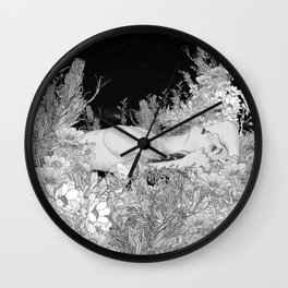 Lie down in darkness Wall Clock